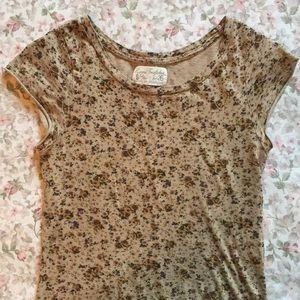 🌹 Zara Trafaluc Floral Short Sleeve Shirt